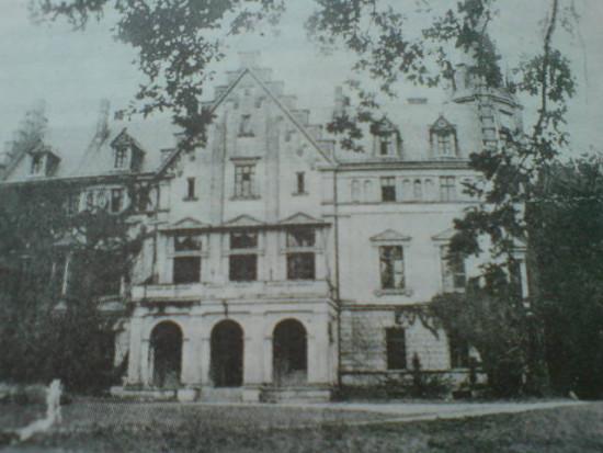 Pałac w Runowie 72 lat temu
