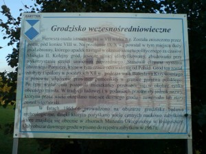 Tablica wmiejscu Grodu Więcborskiego