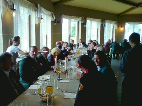 Obiad królewski wystawiony po intronizacji Króla KBS Więcbork Tomasza Bracka