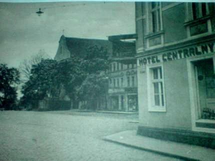 Przedwojenny Rynek w Więcborku zniszczony po wojnie przez komunistów