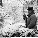 Marszałek Polski Edward Rydz Śmigły na polowaniu prezydenckim w więcborskich lasach