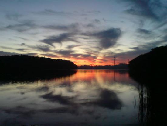 Jezioro więcborskie - młyńskie - foto Tomasz Roman Bracka