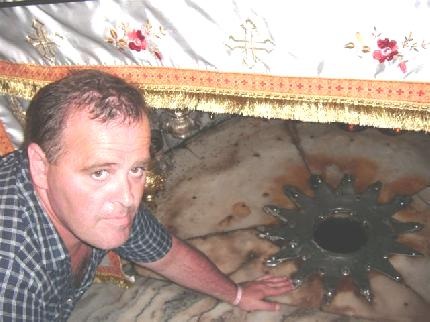 Na zdjęciu moja wizyta w miejscu narodzin Jezusa Chrystusa w Betlehem w Palestynie. Tomasz Bracka