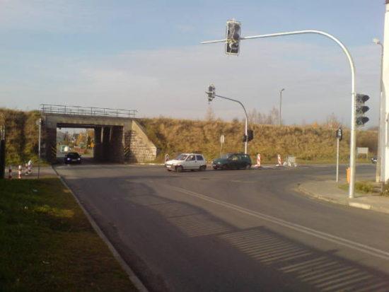 Nowa sygnalizacja świetlna w Więcborku. foto Tomasz Bracka