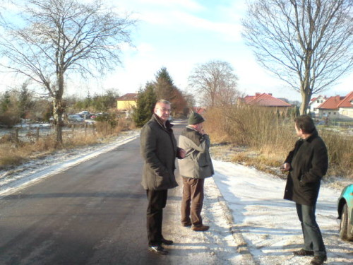 Wizja lokalna ulicy I Armii Wojska Polskiego w Więcborku 11.01.2013r. foto Tomasz Bracka