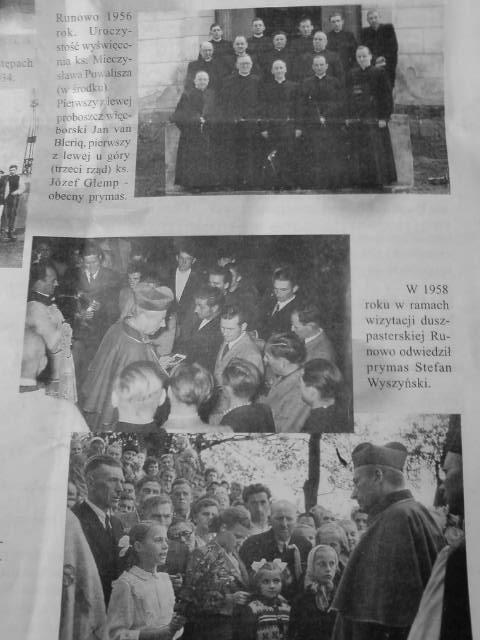 Prymas Polski Stefan Wyszyński i Józef Glemp w Runowie k/Więcborka