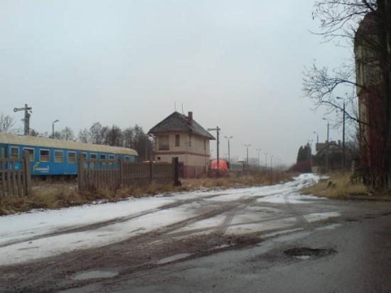 Stacja PKP w Więcborku-04.02.2013r. foto Tomasz Bracka