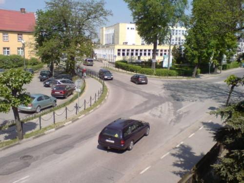 Miejsce przyszłego ronda w Więcborku. foto Tomasz Bracka