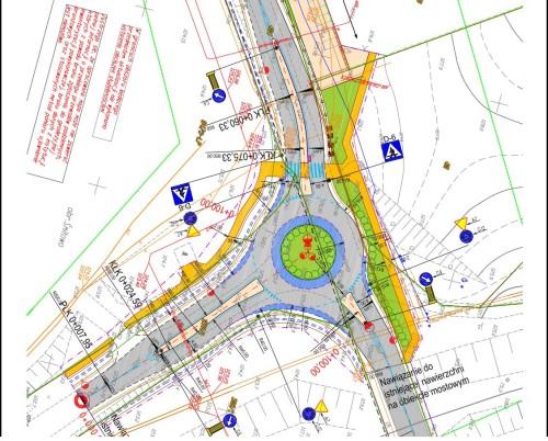 Projekt nowego ronda w Więcborku przy ul. Wyzwolenia