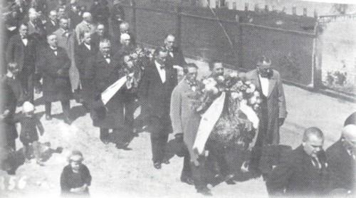 Pogrzeb Jana Bracka z udziałem najwyższych władz RP w tym Marszałka Rydza-Śmigłego, Prezydenta RP Ignacego Mościckiego. Więcbork 13.05.1938r.