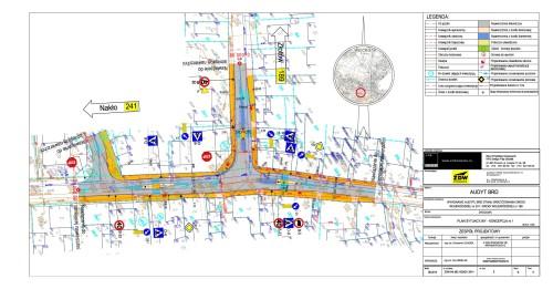 Projekt przebudowy skrzyżowania wWięcborku przy ul.Złotowskiej - Wyzwolenia iHallera wWięcborku, które powstanie zmojejinicjatywy w2018 roku. Tomasz Roman Bracka