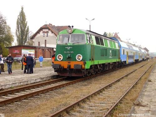 Stacja PKP Więcbork 25.10.2014r.