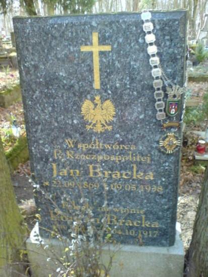 Miejsce Spoczynku Założyciela, Prezesa i Króla KBS Więcbork Jana Bracka. foto Tomasz Bracka