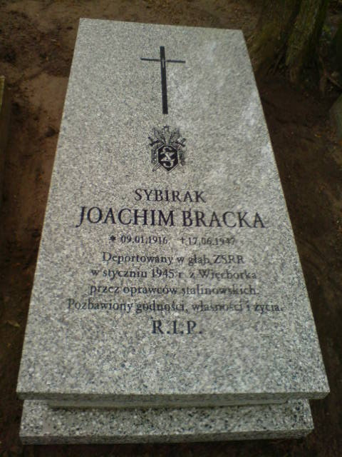 Miejsce spoczynku sybiraka z Więcborka Joachima Bracka deportowanego do ZSRR w 1945r. foto Tomasz Bracka