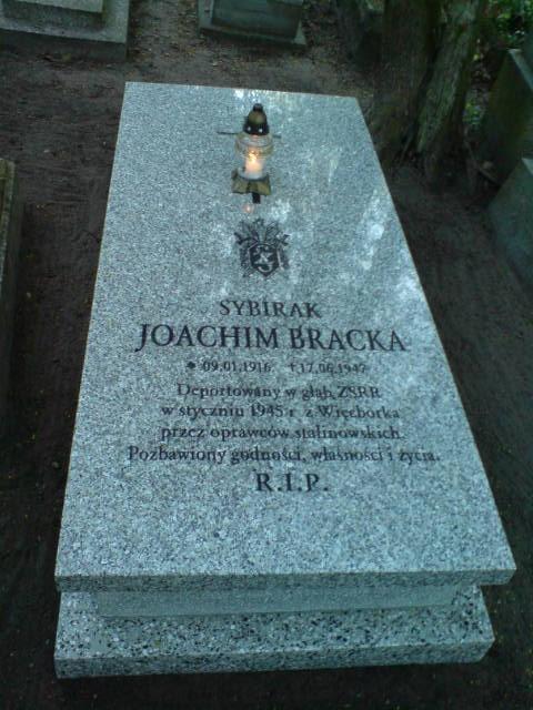 Miejsce spoczynku sybiraka zWięcborka Joachima Bracka deportowanego doZSRR w1945r. foto Tomasz Bracka