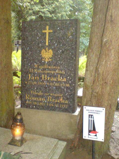 Grób Jana Bracka . Miejsce Pamięci Narodowej foto Tomasz Bracka