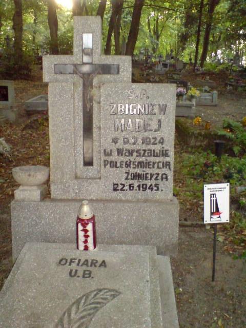 Grób Zbigniewa Madeja, Miejsce Pamięci Narodowej foto Tomasz Bracka