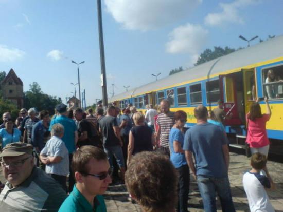 Stacja PKP Więcbork 29.08.2015r. Foto Tomasz Bracka