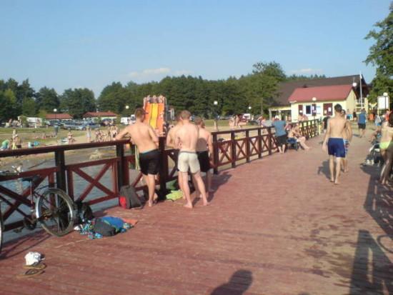 Lato 2015r, na więcborskiej plaży - foto Tomasz Bracka