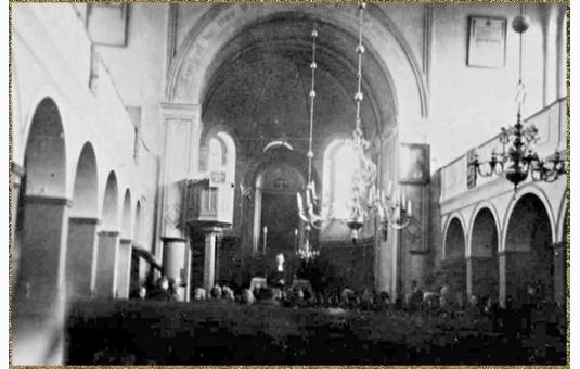 Kościół ewangelicki na Rynku w Sępólnie gdzie UBP spaliło z NKWD setki niewinnych mieszkańców Więcborka i powiatu sępoleńskiego po zakończeniu II Wojny Światowej