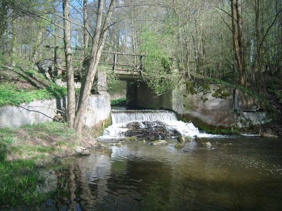 Wodospad w Runowie Młyn na rzece Orla - foto Tomasz Bracka
