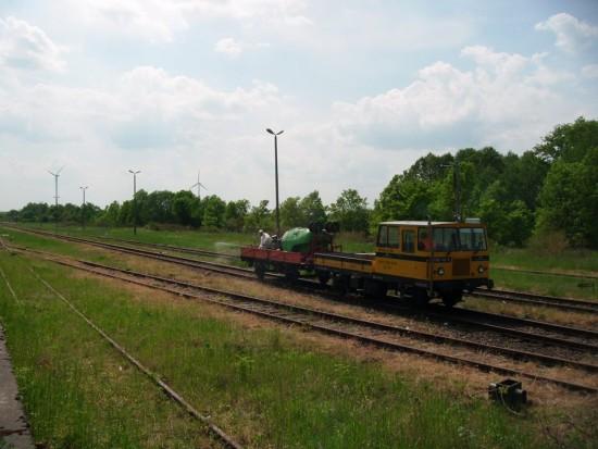 Po mojej skutecznej interwencji trwa rewitalizacja stacji PKP Więcbork 24.05.2016r. - foto Tomasz Bracka