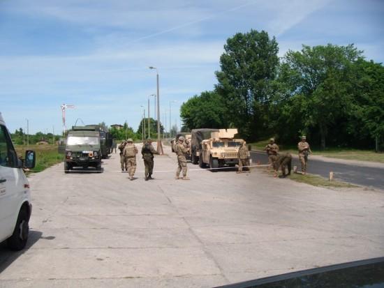 #anakonda16 na wojskowej stacji PKP w Więcborku - foto Tomasz Bracka