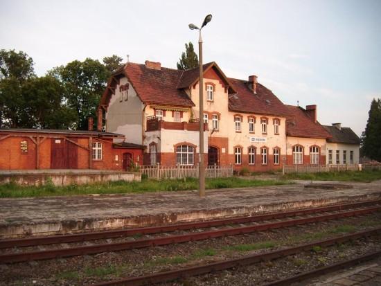 Dworzec PKP Więcbork 2016 r. - foto Tomasz Bracka