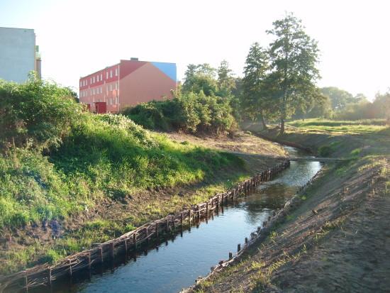 Most i rzeka orla w Więcborku po remoncie po mojej skutecznej interwencji - foto Tomasz Bracka