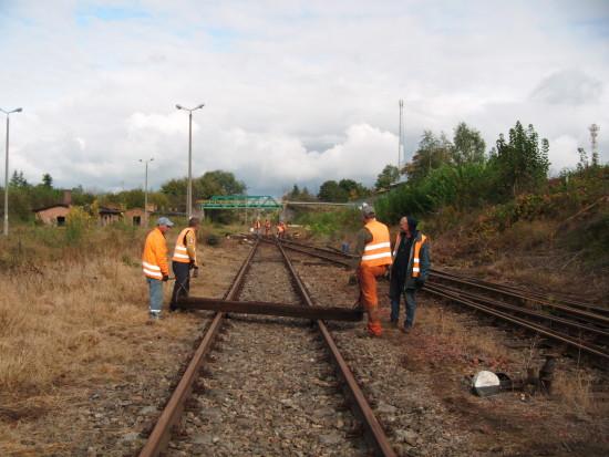 Rewitalizacja linii kolejowej Nr 281 i stacji Więcbork. Więcbork 08.10.2016r. - foto Tomasz Bracka