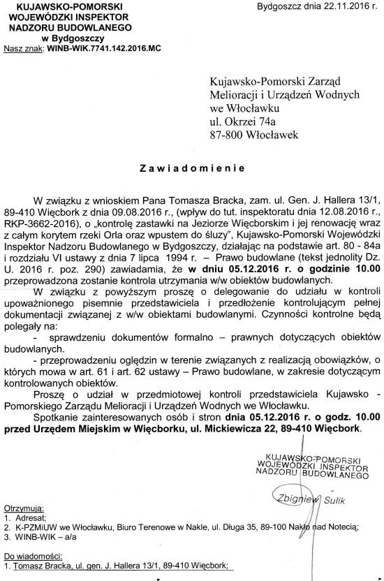 Rowek burmistrza i tama marszałka do kontroli !!!