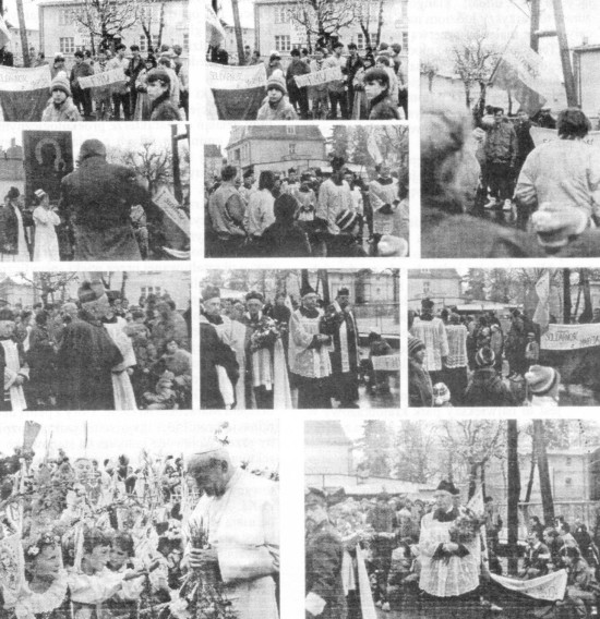 Zdjęcia z demonstracji antykomunistycznych w PRL na ulicach Więcborka zorganizowana przez opozycjonistów w tm mnie Tomasza Bracka pod szyldem Solidarności i Federacje Młodzieży Walczącej, któej przewodniczyłem za komuny na tym terenie