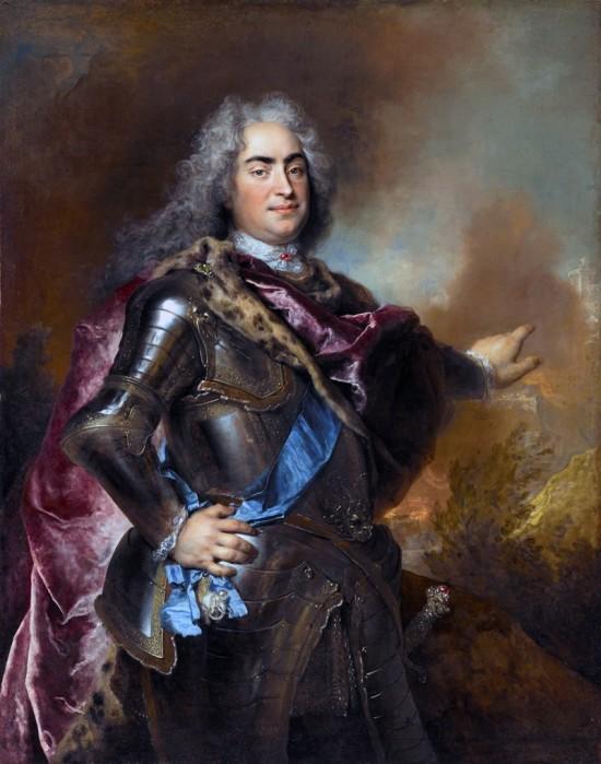 Król Polski August II Mocny panujący w latach 1694 -1733 r.