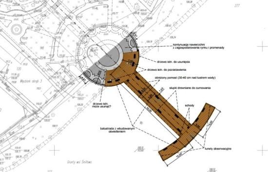 Do lipca 2019 roku powstanie nowe molo z ławeczkami i fontanną wodną przy Promenadzie w Więcborku - Tomasz Roman Bracka
