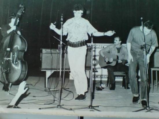 Koncert Nocnej Zmiany Bluesa mojej produkcji artystycznej - Pałac Młodzieży Bydgoszcz 1991 r. - foto Tomasz Bracka