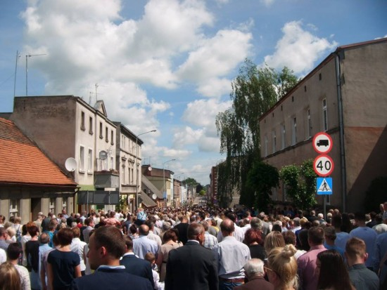 Boże Ciało na ulicach Więcborka AD 2017   foto Tomasz Roman Bracka