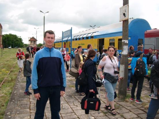 Pociąg pasażerski POL REGIO relacji Nakło n/Not - Więcbork - Chojnice wjechał dziś 17. 06. 2017 r. ponownie na 130 letnią zabytkową stacje PKP Więcbork !!! - foto Tomasz Bracka
