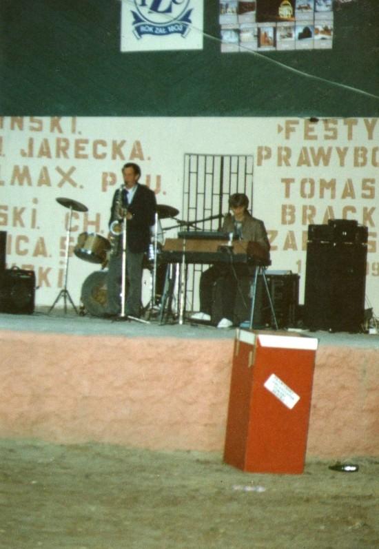 Jeden z wielu kilkudziesięciu festynów i zabaw plenerowych w lasku miejskim w Więcborku jaki zorganizowałem nieodpłatnie dla mieszkańców Więcborka i turystów w latach 90 - tych minionego stulecia. Tomasz Roman Bracka