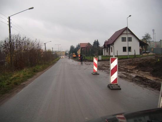 Budowa ulicy Wojska Polskiego z chodnikami w Więcborku - foto Tomasz Roman Bracka