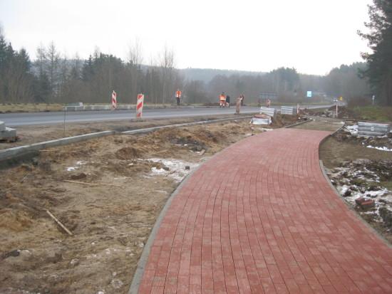 Budowa ronda imienia Prezydenta II RP Ignacego Mościckiego w Więcborku - foto Tomasz Roman Bracka
