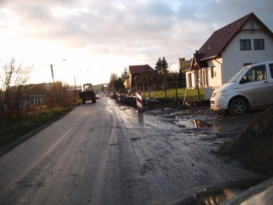 Budowa ulicy Wojska Polskiego z chodnikami w Więcborku – foto Tomasz Roman Bracka