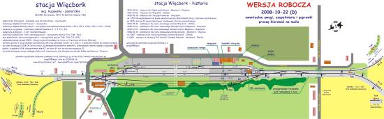 Plan techniczny stacji PKP Więcbork LK 281