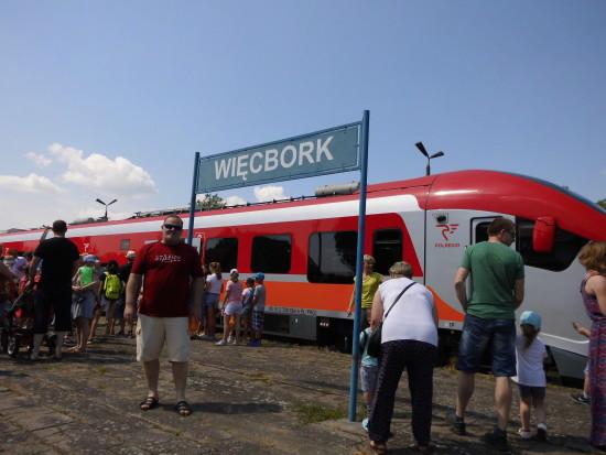 💯 Kolejowy Dzień Dziecka 2018 r. odbył się ponownie na LK nr 281 kat B i stacji PKP Więcbork -foto gazeta więcborska