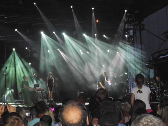 Koncert Andrzeja Piasecznego z zespołem na plaży miejskie Więcborku 19. 08. 2018 r. - foto Tomasz Roman Bracka