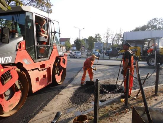 Rozpoczął się remont ulic Mickiewicza i Pocztowej w Więcborku - foto Tomasz Roman Bracka