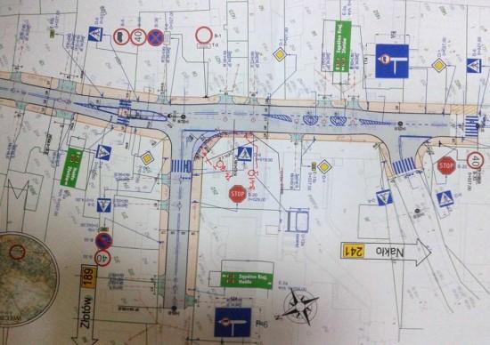 Przedstawiam po raz pierwszy projekt nowego skrzyżowania przy DW 241 i 189 przy ulicach Złotowskiej, Hallera i Wyzwolenia w Więcborku, które wywalczyłem w ZDW Bydgoszcz i UM w Toruniu - Tomasz Roman Bracka