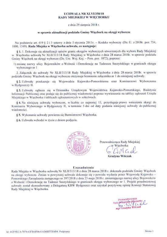 Skandal nieistniejące ulice w Więcborku od ponad dziesięciu lat na urzędowych obwieszczeniach wyborczych !