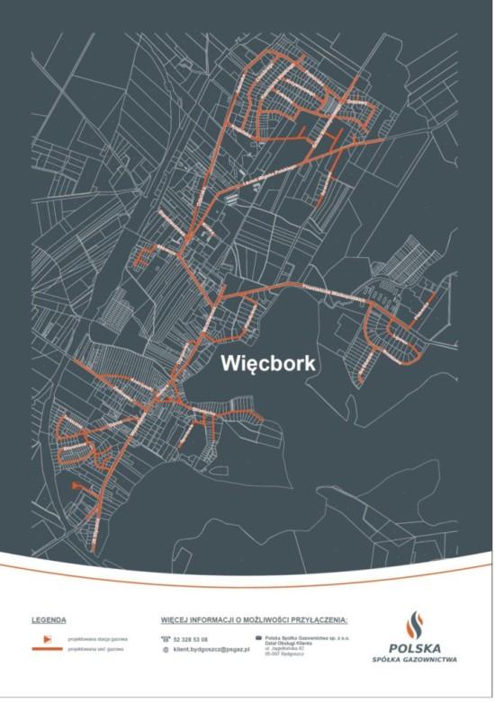 Wywalczona przeze mnie gazyfikacja ziemna Więcborka staje się faktem, burmistrz na swoich mapach geodezyjnych wydanych PSG zataił znaczną część miasta do gazyfikacji z osiedlem Lupinek ! Tomasz Roman Bracka