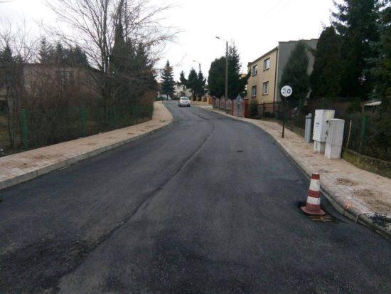 Dobiega końca przebudowa ulicy Orlej w Więcborku - foto Tomasz Roman Bracka