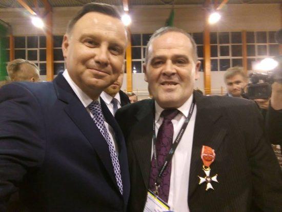 Tomasz Roman Bracka i Prezydent RP dr Andrzej Duda